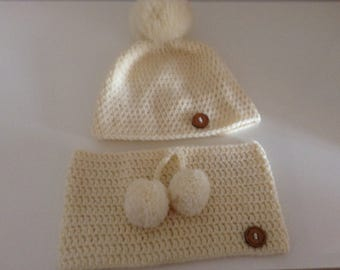 Hat & Cowl crochet set