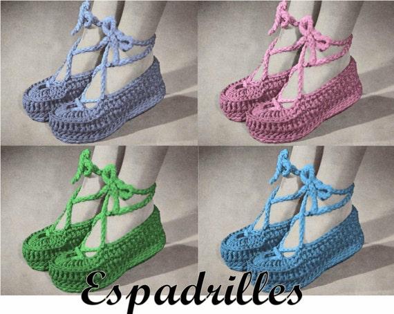 Crochet Espadrille Pattern Pdf Instant Download Crochet