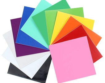 Oracal 651 Glossy Vinyl 12 - 12 x 12 Sheets Assorted Colors Pack #2