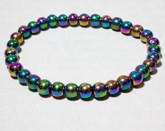 Rainbow Hematite Bracelet