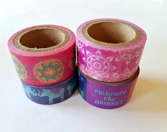 Bohemian Style Washi Samples - 4 pack