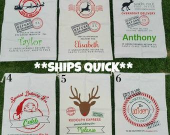 Santa Sacks - Christmas Bag - Christmas Sack - Personalized Santa Sack - Reusable Christmas Bag - Custom Name Gift Bag - Christmas Gift