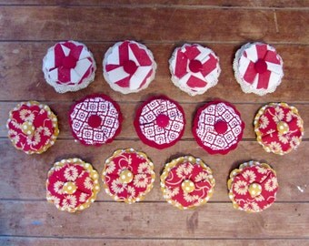 Flower Pins and Hair Clips | Red Prints