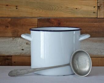 Vintage Metal Ladle - Soup Spoon - Primitive metal ladle - Farmhouse Kitchen decor - Rustic - Halit