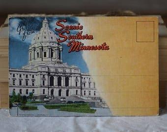 Vintage Southern Minnesota images folder - Greetings from Scenic Southern Minnesota - Vintage 1950s
