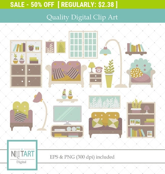 50 off sale home clip art living room clipart vector by for Living room 50 off january
