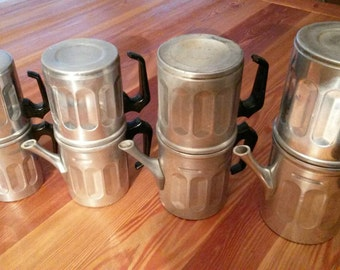 4 coffee makers Neapolitan moke vintage