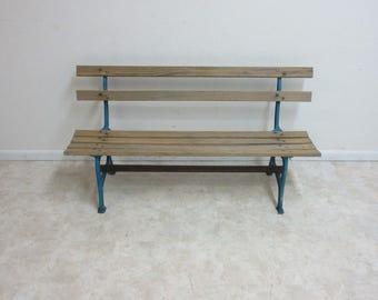 Antique Atlantic City Boardwalk Cast Iron Bench Seat