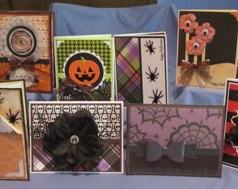 10 Handmade HALLOWEEN greeting cards (#107)