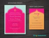 Fuchsia Ganesh Printable DIY Wedding Invitation - with Customized Art