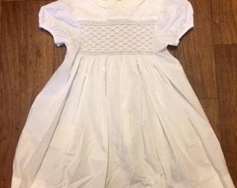 Polly Flinders white dress