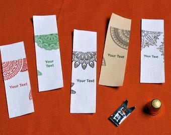 Custom clothing labels oriental cotton