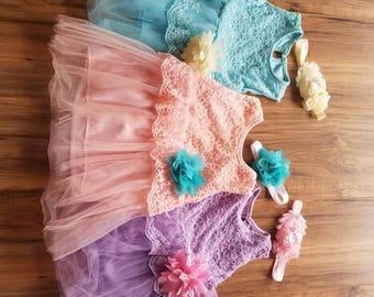 Little girls lace dress