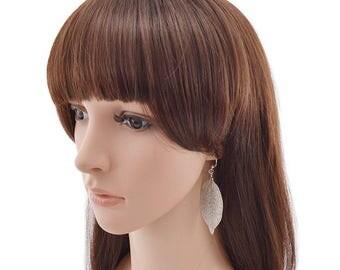 Silver Magnolia  Real Leaf Earrings