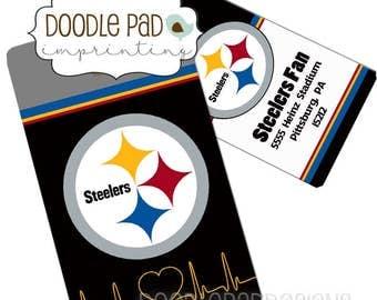 Steelers Fan Gift, Pittsburg Steelers Bag Tag