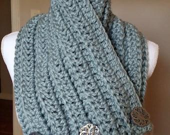 Crochet Women's Frost Blue Cowl