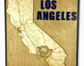 Stadium State Shape - California, Los Angeles (Dodger Stadium)