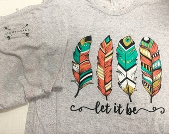 Light Heart Let it be tri blend tee shirt NEW