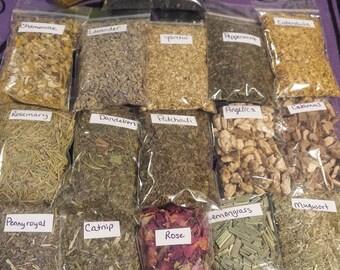 Basic Starter Kit (Smokeless), Wicca, Witchcraft, Herbal Kit, Restock kit