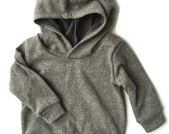 Baby Toddler Hoodie ~ Heather Gray French Terry