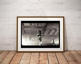 Vintage Microphones Poster