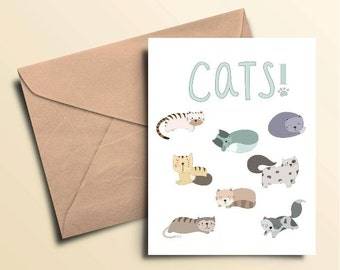 Cats! Note Cards – Box of 10 With Envelopes