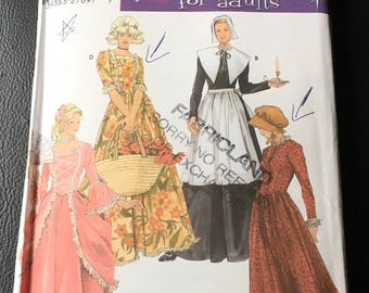 Simplicity 5041 Sewing Pattern  Misses Miss Petite Puritan Centennial 18th 19th Century Costumes  Theatre Size  10 12 14 Uncut New FF