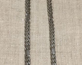 Vintage heavy solid silver chain for man