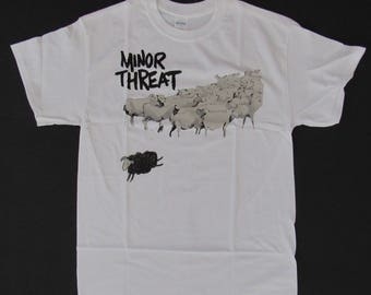 Brand New Old School Punk MINOR THREAT Out Of Step Shirt Size Small Free Same Day Shipping With A Tracking Number