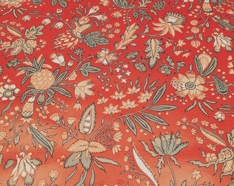 Motif Vintage Wallpaper French Country Red and Green