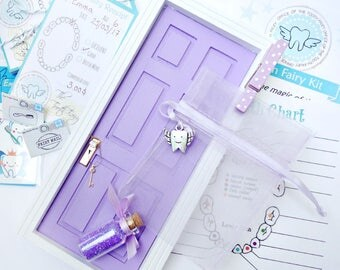 Purple Tooth Fairy Door Kit, Tooth Fairy Door, Purple Fairy Door, Tooth Fairy Receipts, Tooth Fairy, Purple Tooth Fairy, Girl Tooth Fairy