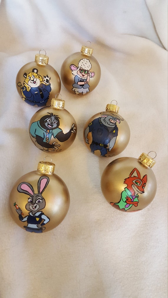 Zootopia Christmas Ornaments