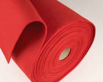 "18"" x 18"" 3mm Red Merino Wool Felt"