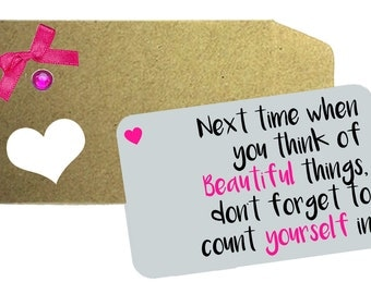 Beautiful Things Quote Printed on Aluminium Wallet Card, Love Note, Wallet Note, Wife, Husband, Anniversary Gift, Beautiful Things quote