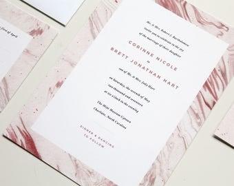 Geode Wedding Invitation | Marble Wedding Invite, Agate Invite, Modern Geode Wedding Invitation, Modern Marble, Wedding Invitation