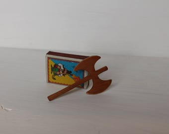 Wooden Ax//Gift from Tooth Fairy //Viking Axe //Waldorf toy //Miniature Axe //Miniature Ax //Miniature Toy