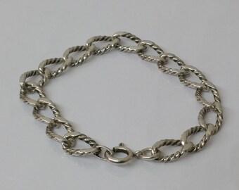 Bracelet link bracelet silver 835 vintage SA239