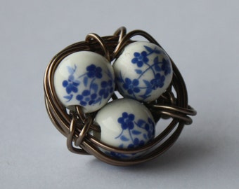 Bird's nest Brooch - Azulejo