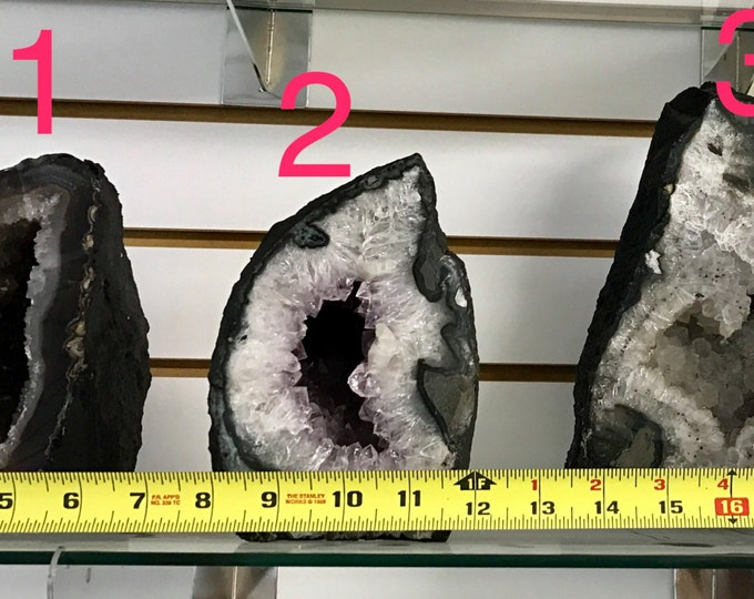 Amethyst Geodes- 6 - 9 inch tall Each! From Uruguay- Pick Yours Amethyst Geode \ Amethyst Crystal \ Amethyst Crystal \ Geode \ Crown Chakra