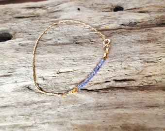 Tanzanite, gold 14 K gold filled bracelet