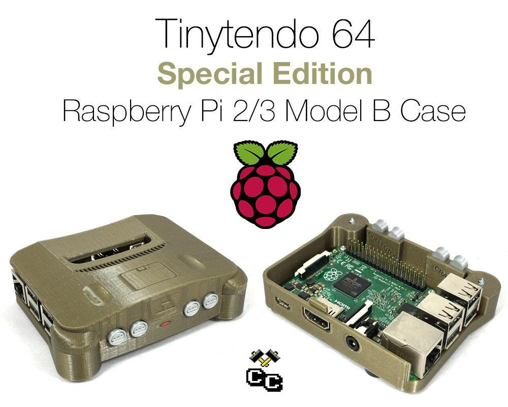 Tinytendo 64 raspberry pi case raspberry pi 3 by for Raspberry pi 3 architecture