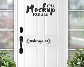 Front Door Decal mockup template | Vinyl door decal graphic template