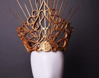 Crown - Crown - headdress - Queen - sewing - Art - Workshop Fraise au Loup