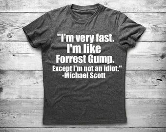 Michael Scott, Forrest Gump Tshirt