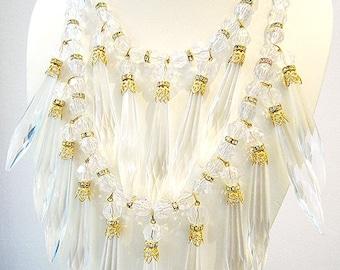 Vintage Lucite Bib Necklace
