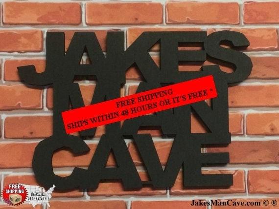 Unique Man Cave Decor : Personalized man cave sign wall decor by jakesmancave