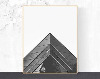 Architectural photo, Architectural Print, Wall Art, Black and White Photography, Minimalist Art, Digital Download, Geometric print, Decor