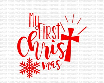 My First Christmas svg Santa Sacks SVG EPS DXF Silhouette Studio Designer Edition Cricut Design Space Expression Printable Heat Transfer