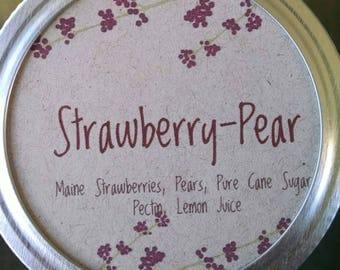 Strawberry Pear Jam, Maine Strawberries, Maine Made, pint