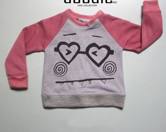 Monster Heart Pink|Sweatshirt|Sweat Shirt|Winter|Kids|Winter Cloth|Girls Cloth|Girl|Pink|Winter Collection